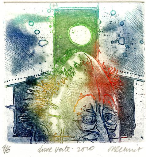 Galerie Quadri Edition - Roger Dewint - Lune verte