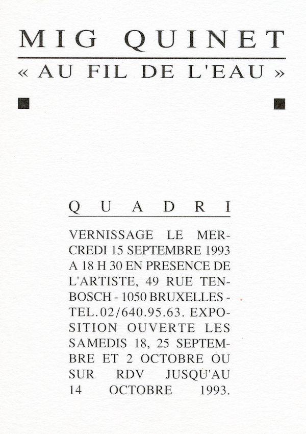 Galerie Quadri Edition - Mig Quinet