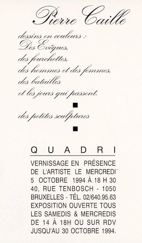 Galerie Quadri Edition - Pierre Caille