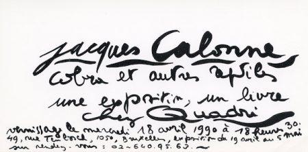 Galerie Quadri Edition - Jacques Calonne - Cobra