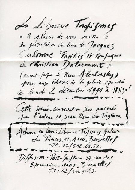 Galerie Quadri Edition - Jacques Calonne - Facéties et compagnie de Christian Dotremont