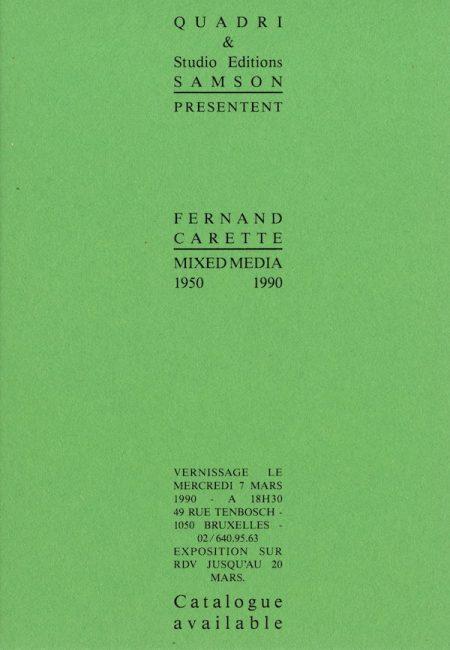 Galerie Quadri Edition - Fernand Carette