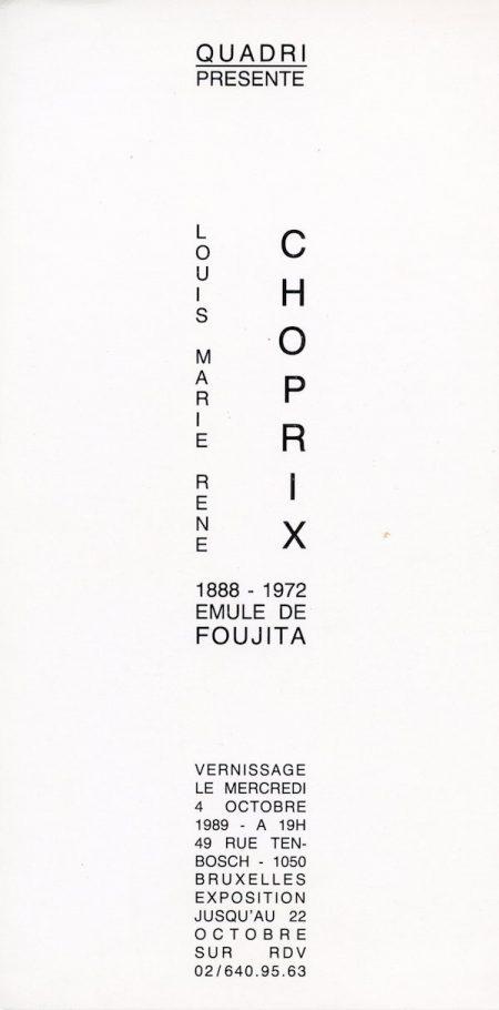 Galerie Quadri Edition - Louis Marie René Choprix