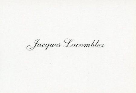 Galerie Quadri Edition - Jacques Lacomblez - C'est cité de mémoires