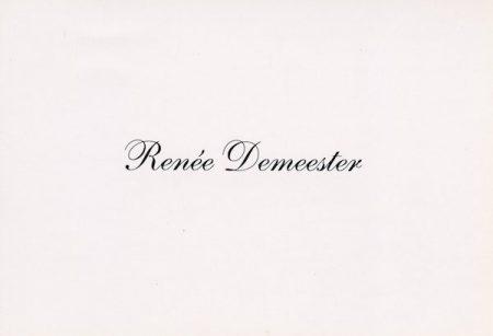 Galerie Quadri Edition - Renée Demeester