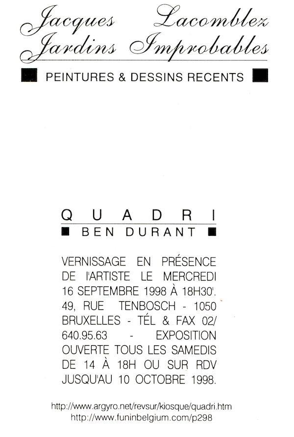Galerie Quadri Edition - Jacques Lacomblez - Jardins improbables