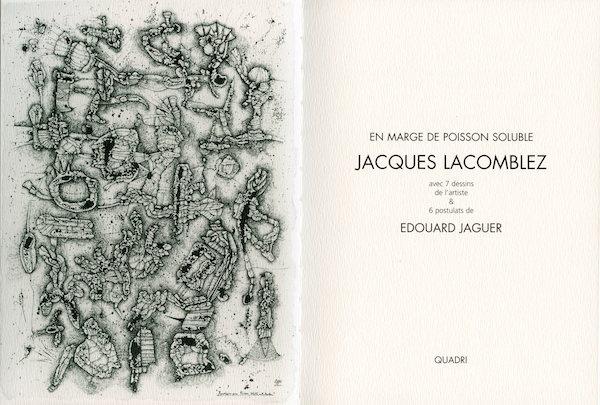 Galerie Quadri Edition - Jacques Lacomblez - En marge de poisson soluble