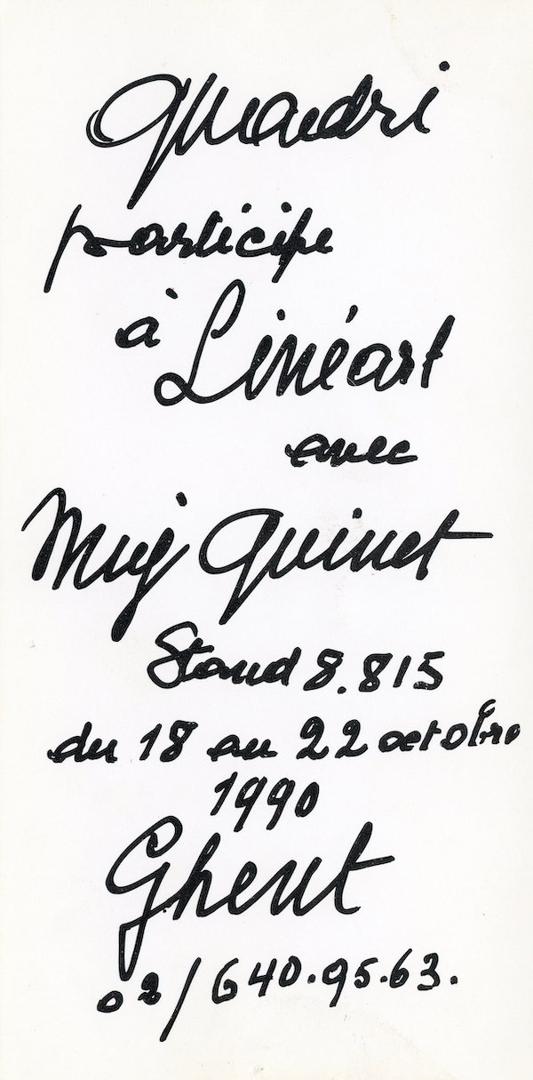 Galerie Quadri Edition - Lineart - Mig Quinet