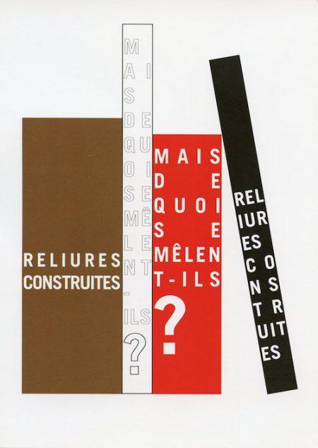 Galerie Quadri Edition - Reliures construites - Mais de quoi se mêlent-ils ?