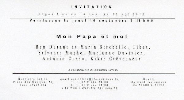 Galerie Quadri Edition - Ben Durant - Mon papa et moi