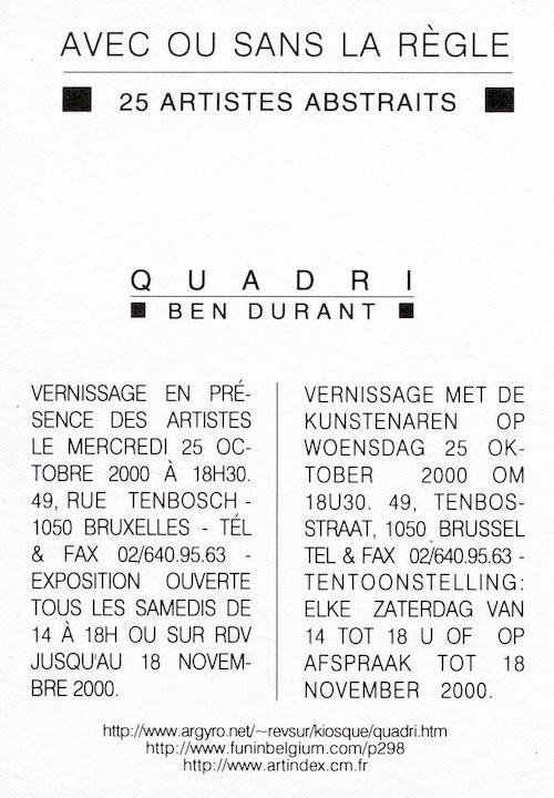 Galerie Quadri Edition - Avec ou sans la règle