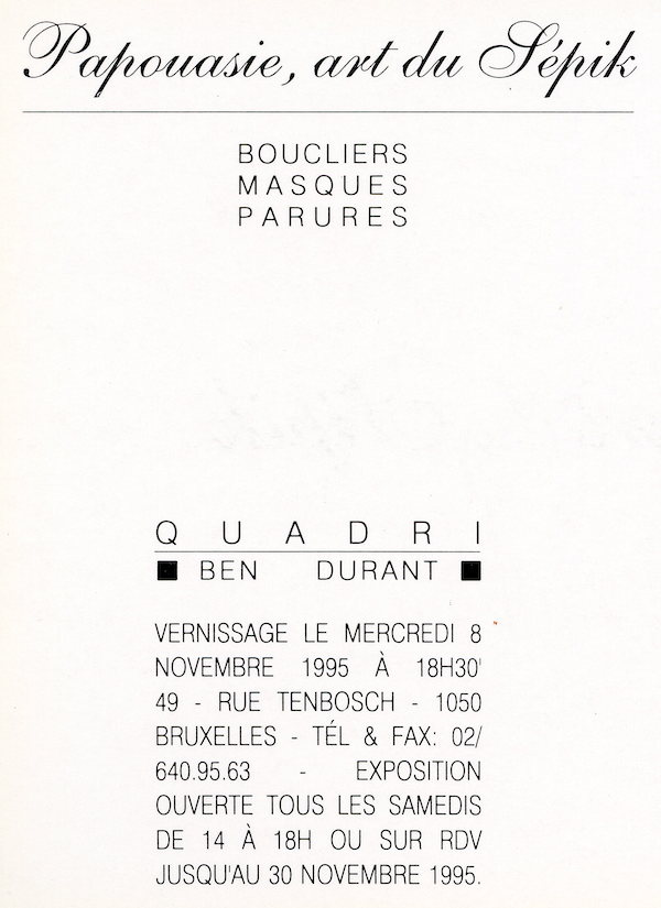 Galerie Quadri Edition - Papouasie, art du Sépik
