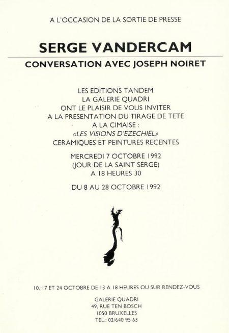 Galerie Quadri Edition - Serge Vandercam
