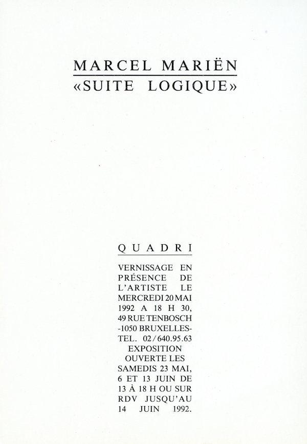 Galerie Quadri Edition - Marcel Mariën