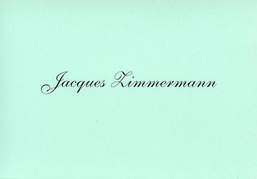 Galerie Quadri Edition - Jacques Zimmermann