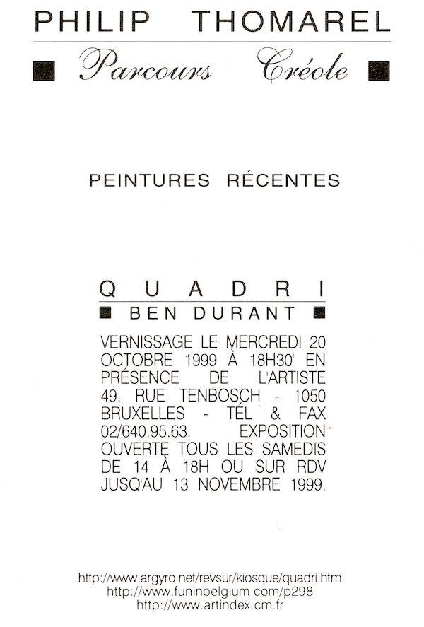 Galerie Quadri Edition - Philip Thomarel
