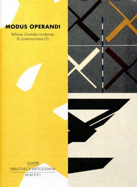 Galerie Quadri Edition - Modus operandi - Reliure